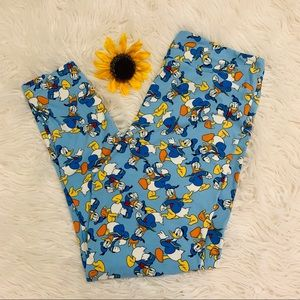Lularoe Disney Donald Duck Leggings TC